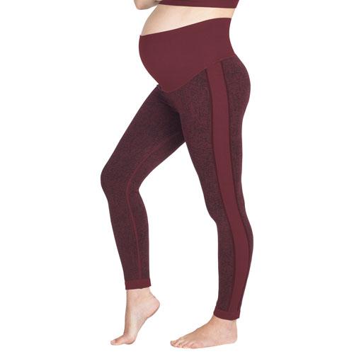 Pantalon de sport de maternité Ella de Modern Eternity - Moyen - Jacquard bourgogne