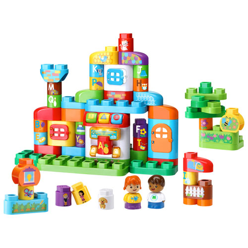 Ensemble de blocs ABC Smart House LeapBuilders - 61 pièces - Français