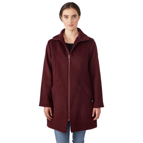Modern Eternity Khloe Wool Maternity Coat - X-Large - Burgundy