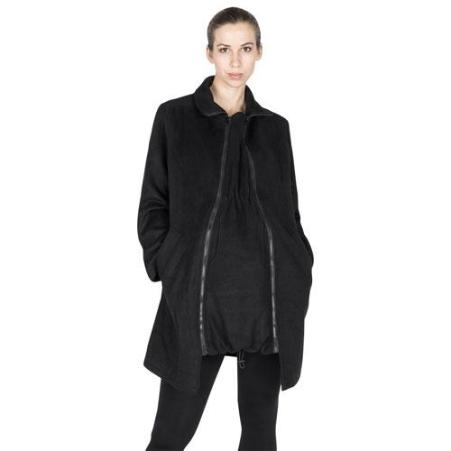 Manteau de maternité en laine Khloe de Modern Eternity - Très petit - Noir