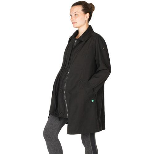 Modern Eternity Avelynne Maternity Trench Coat - Small - Black