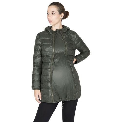 Manteau de maternité en duvet Ashley de Modern Eternity - Très grand - Vert kaki