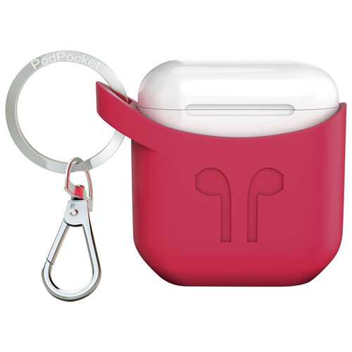 PodPocket Scoop Silicone Case for AirPods - Rosso Red