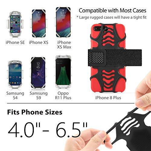 Lightweight Sports Cell Phone Arm Band for iPhone Xs Max XR X 8 7 Plus Samsung Galaxy S10 S9 S8 Smartphone All 3 Sizes Bone Collection Running Armband Phone Holder Combo Run Tie Series