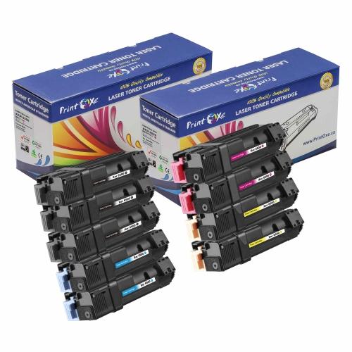 Xerox 6500 / 106R01597 ; Compatible 2 Sets plus Black of 9 Toner Cartridges ; 3 Black, 2 Cyan, 2 Magenta, & 2 Yellow