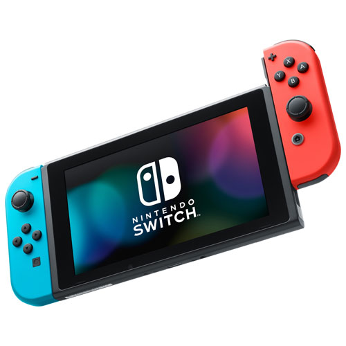 Nintendo Switch Console With Neon Red Blue Joy Con Best Buy Canada