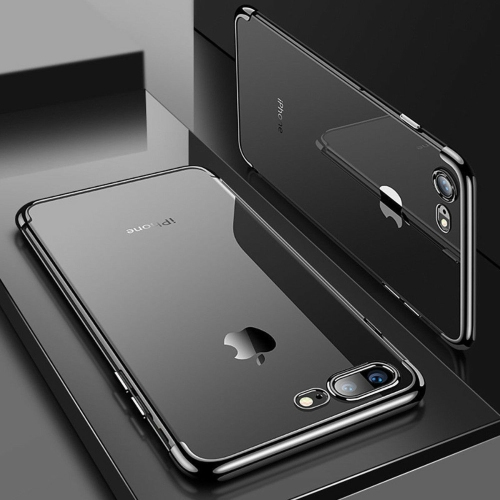 Coque iphone 6 Plus / 6s Plus Transparent Silicone Ultra fine Mince/Anti choc/Slim/Liquid Crystal Rouge,Housse en TPU Bumper Souple,360 Degres ...