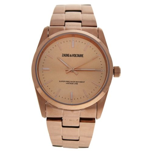 ZVF230 Rose Gold Stainless Steel Bracelet Watch by Zadig and Voltaire for Unisex - 1 Pc Watch