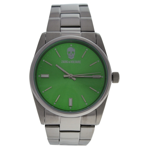 ZVF244 Green Dial/Silver Stainless Steel Bracelet Watch by Zadig and Voltaire for Unisex - 1 Pc Watch