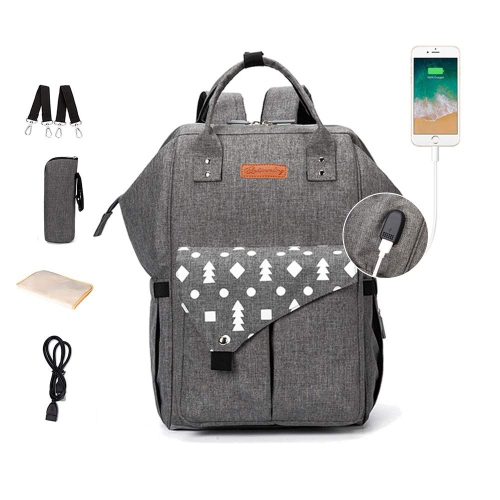 Diaper Bag Backpack Multi-function Waterproof Travel Backpack Baby Nappy Bag for Mom and Dad
