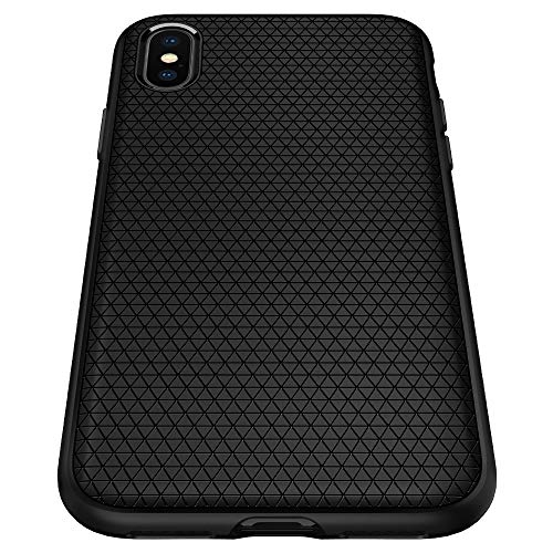 Spigen Liquid Air with Durable Flex and Easy Grip Design Designed for Apple iPhone Xs Max Case (2018) - Matte Black
