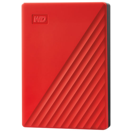WD My Passport 2TB USB Portable External Hard Drive - Red
