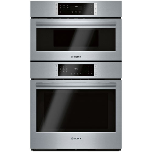 """Bosch 30"""" Self-Clean True Convection Electric Combination Wall Oven - Stainless Steel"""