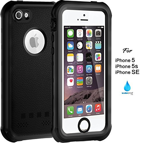 Waterproof Case for iPhone 5 5S SE, IP68 Case by ASAKUKI, Certified Phone Case with Full Body Protective Shockproof