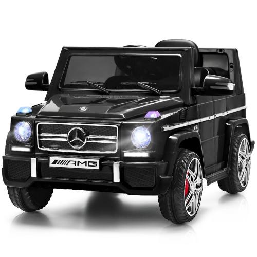 Costway Mercedes Benz G65 Licensed 12V Electric Kids Ride On Car RC Remote Control Black