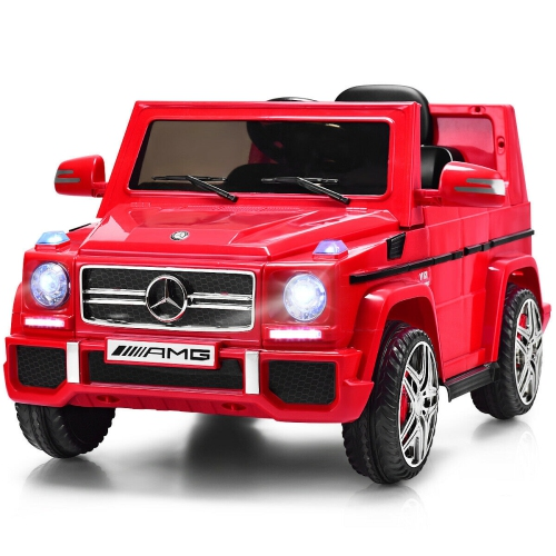 Costway Mercedes Benz G65 Licensed 12V Electric Kids Ride On Car RC Remote Control Red