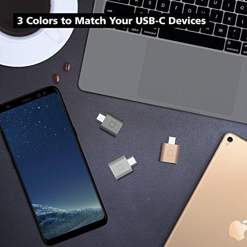 Space Gray nonda USB Type C to USB 3.0 Mini Adapter,Thunderbolt 3 to USB Adapter