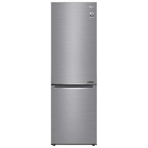 """LG 24"""" 11.9 Cu. Ft. Counter-Depth Bottom Freezer Refrigerator - Platinum Silver"""