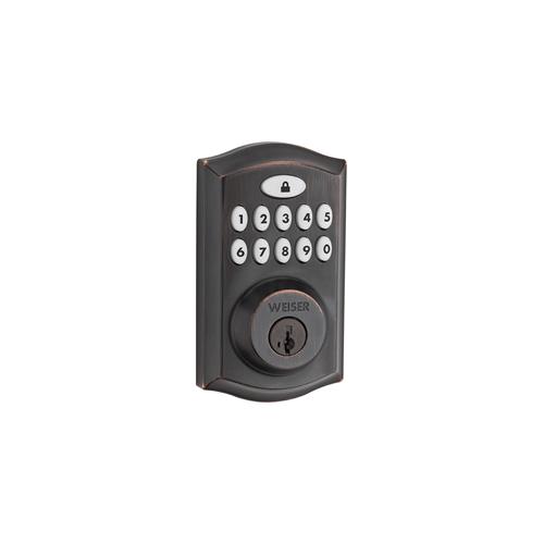 Weiser Zwave 11 Button Deadbolt Venetian Bronze 9GED18000-017