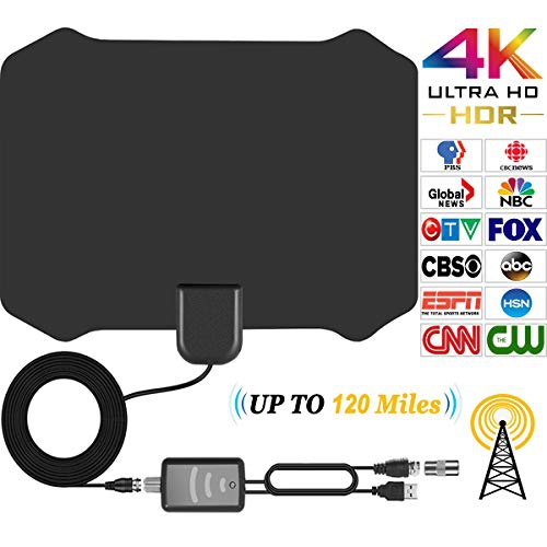 Papakoyal TV Antenna HD Indoor HDTV Antenna for Digital TV with 120 Miles Long  Range Support 4K 1080p & All Types TV's | Best Buy Canada