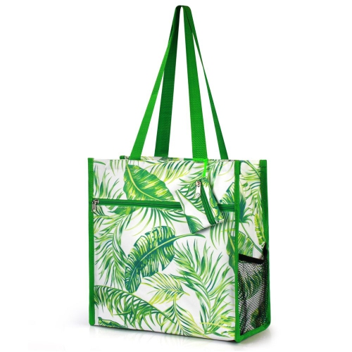 Lightweight Zip Closure Tote Carry Bag for Shopping Travel