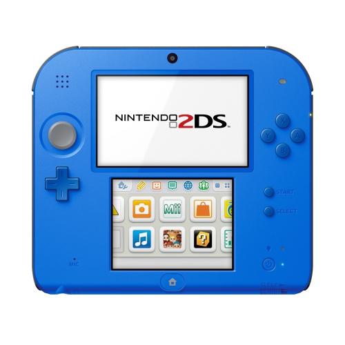 Console de jeux Nintendo 2DS Electric Blue avec Mario Bros. 2 Pré-installé, Reconditionnée