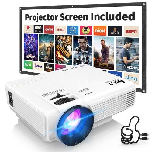 Mini projecteur de 2400 LUX taille de projection de 176 po, projecteur vidéo avec prise en charge de la HD intégrale 1080p