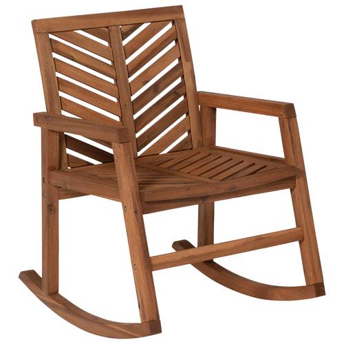 Chaise berçante de patio à chevrons de Winmoor Home - Brun