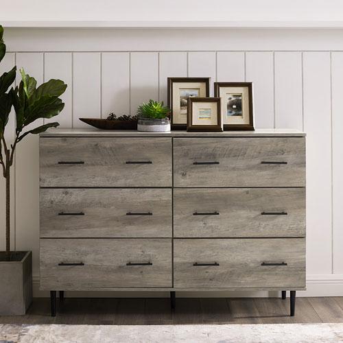 Winmoor Modern Home 6-Drawer Dresser - Grey