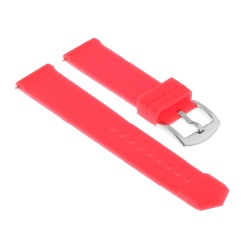 Strapsco Silicone Rubber Watch Band Strap for TAG Heuer Formula 1 - 22mm - Red
