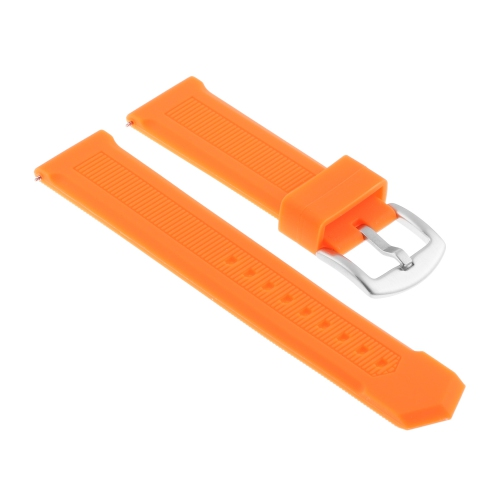Strapsco Silicone Rubber Watch Band Strap for TAG Heuer Formula 1 - 22mm - Orange