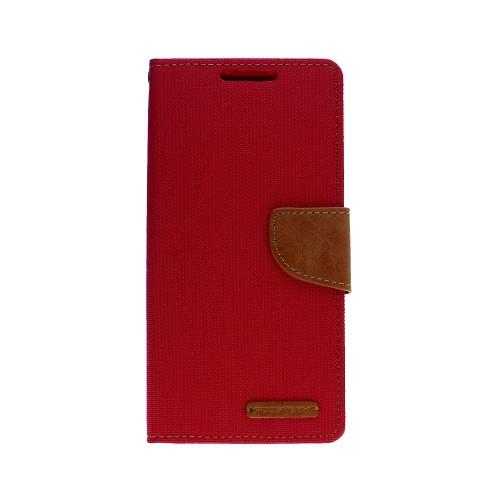 For Samsung Note 10 Goospery Canvas Diary, Red