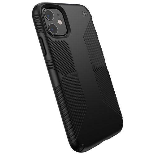 Étui rigide ajusté Presidio Grip de Speck pour iPhone 11/XR - Noir
