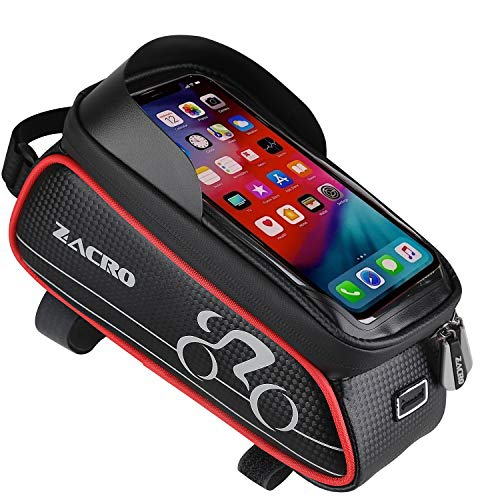 Bicycle Cycling Bag Waterproof Front Bags Cell Mobile Case 6inch Phone Holder