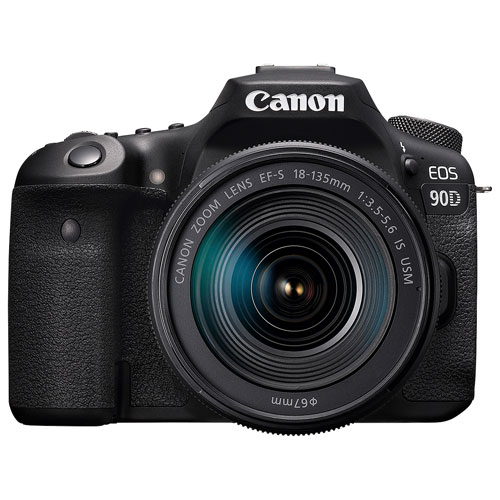 Canon EOS 90D DSLR Camera with 18-135mm IS USM Lens Kit