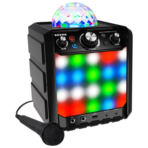 ION Party Rocker Effects Bluetooth Speaker with Microphone ...