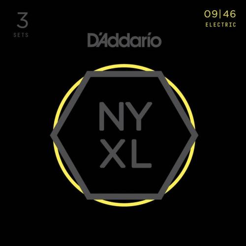 D'Addario NYXL 09-46 Electric Guitar Strings - 3 Pack