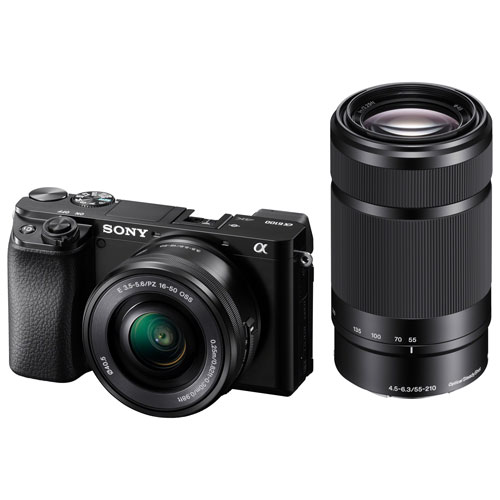 Sony Alpha a6100 Mirrorless Vlogger Camera with 16-50mm/55-210mm Lenses