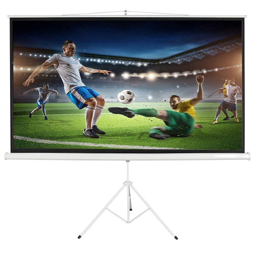 """Projection Screen 100"""" 16:9 with Tripod Stand Height Adjustable Portable Projection Screen Foldable Stand"""