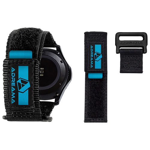 Bracelet à dégagement rapide d'Adreama pour montre intelligente avec bracelet de 22 mm - Noir