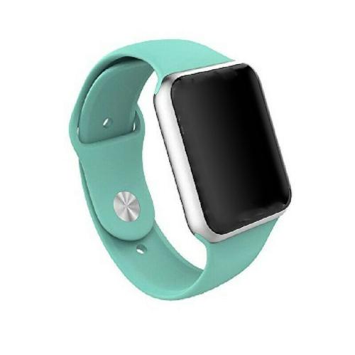 Bracelet de remplacement en silicone souple pour Apple Watch iWatch Series 1 2 3 4 5 6, 38 mm/40 mm, bleu sarcelle