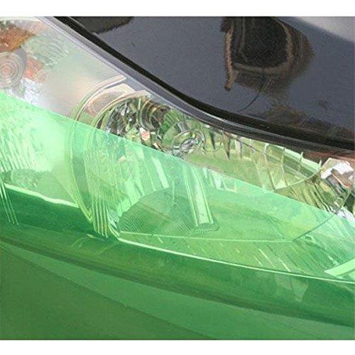 PME 12 x 71 Green Tint Vinyl Film Overlay Wrap Sheet For Car Auto Motorcycle Headlight Fog Light Lamp