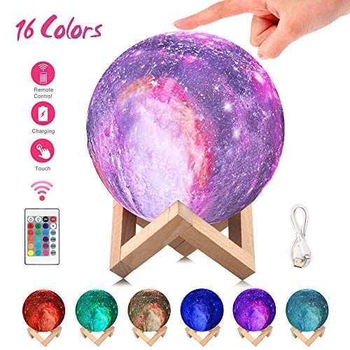 Moon Lamp 3d Printing 16 Colors Led Moon Night Light With Stand Remote Touch Control Usb Rechargeable Decorative Best Buy Canada