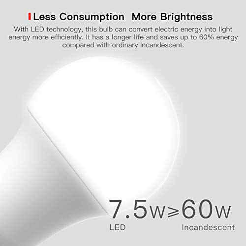 Smart LED Bulb E27 WiFi Multicolor Light Bulb Compatible with Alexa Echo TECKIN A19 60W Equivalent RGB Color Changing Bulb Google Home and IFTTT 7.5W 4 Pack T TECKIN No Hub Required