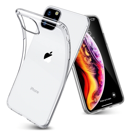 【CSmart】Ultra Thin Soft TPU Silicone Jelly Bumper Back Cover Case for iPhone 11 Pro MAX, Transparent Clear