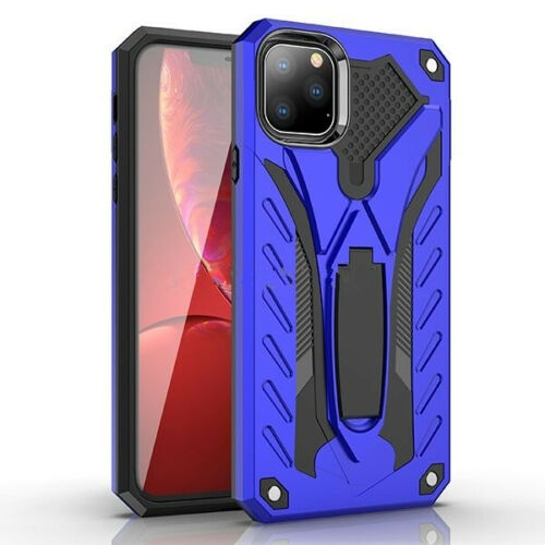 【CSmart】 Shockproof Heavy Duty Rugged Defender Hard Case Kickstand Cover for iPhone 11 Pro , Blue