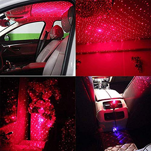 Car Interior Lights Decorative Romantic USB Night Light for Car Ceiling Home Party Car USB Atmosphere Ambient Star Light Romantic Auto Roof Star Projector Lights