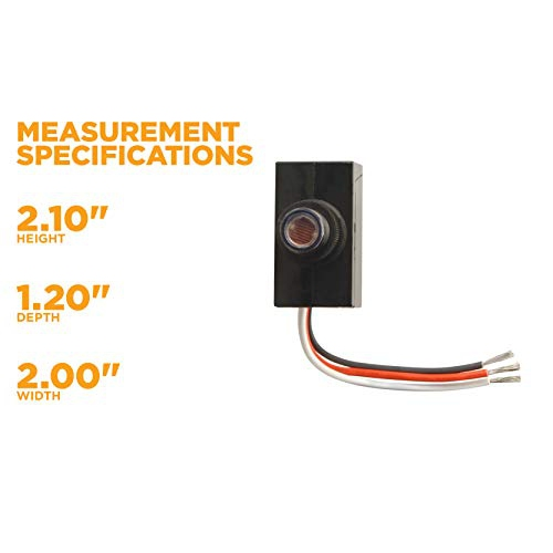 Outdoor Hardwire Post Eye Light Control With Photocell