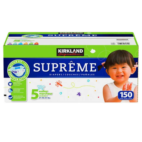 Kirkland Signature Supreme Diapers Sizes 1-6 ** FREE SHIPPING **