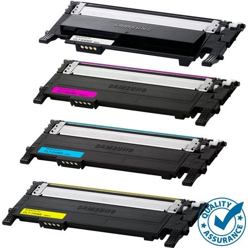 Printer Pro™ 4 COLORS SET- Samsung 406/CLT-406/CLT406S BK/M/Y/C Toner Cartridge-Samsung Printer CLP-365/CLX-3305/C410